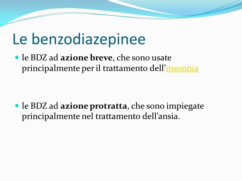 Le benzodiazepinee le BDZ ad azione breve, che sono usate principalmente per il trattamento dell'insonnia.