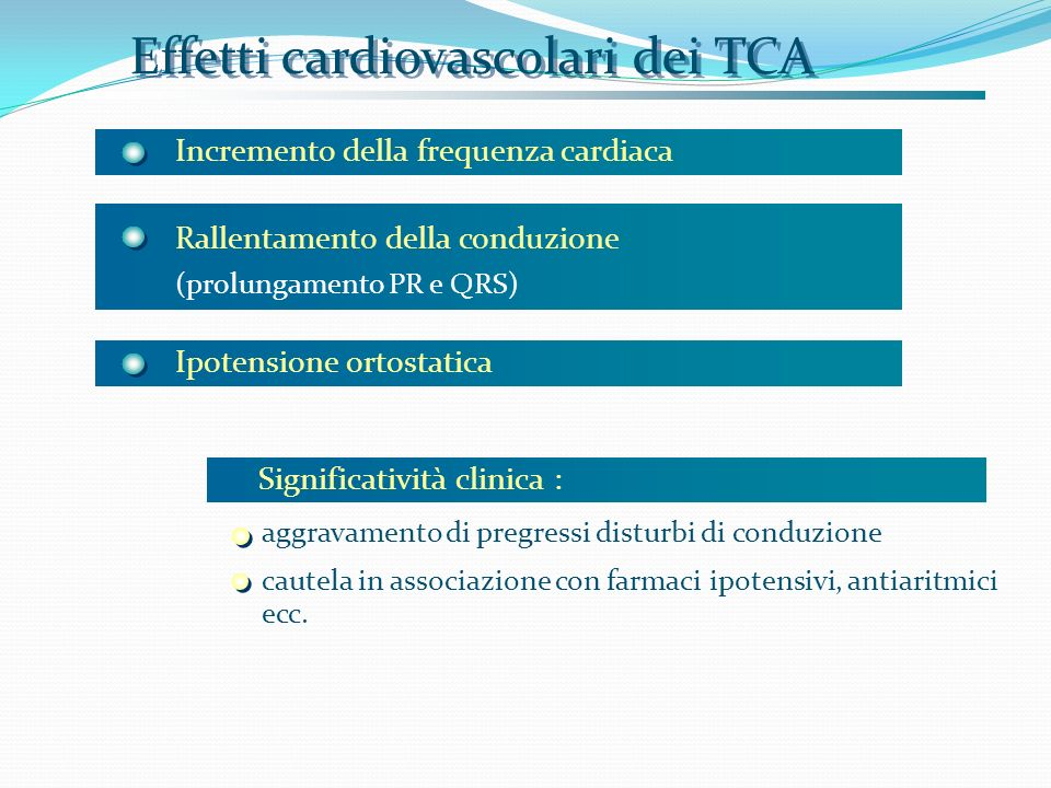 Effetti cardiovascolari dei TCA