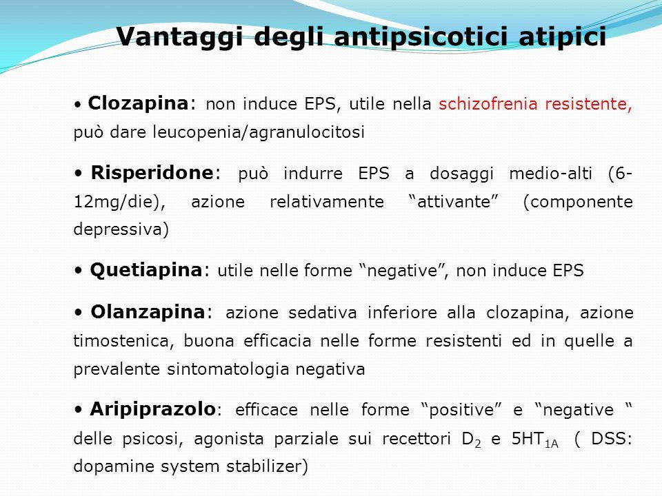 Vantaggi degli antipsicotici atipici