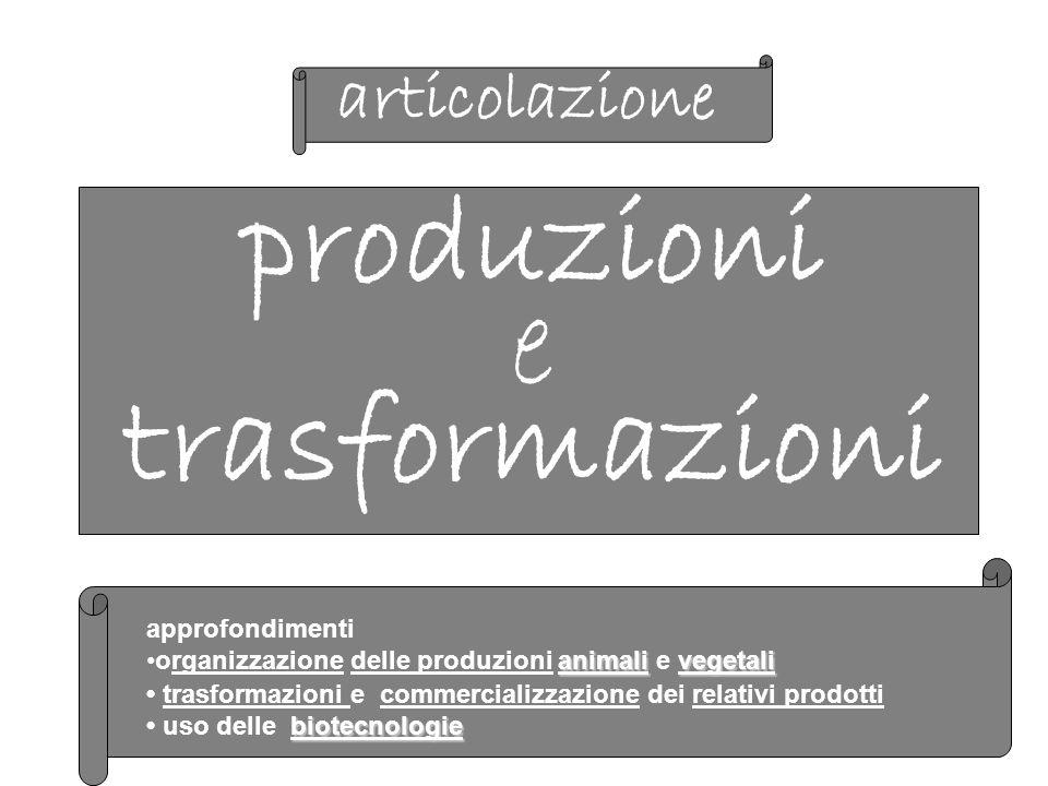 produzioni e trasformazioni