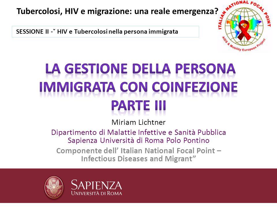 La gestione della persona immigrata con coinfezione parte III