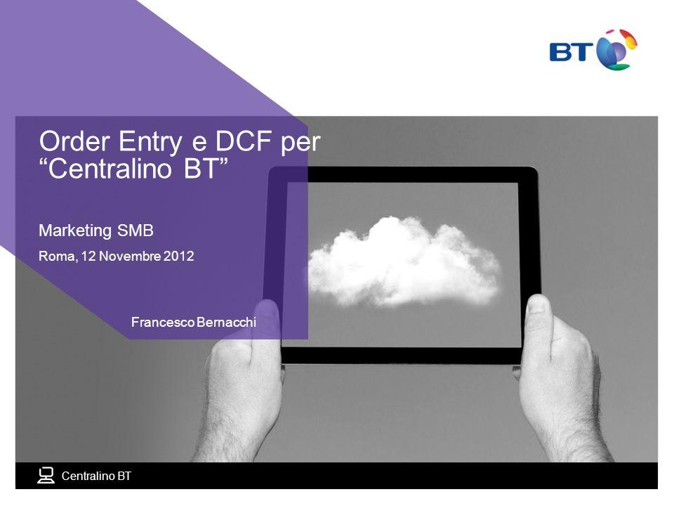 Order Entry e DCF per Centralino BT