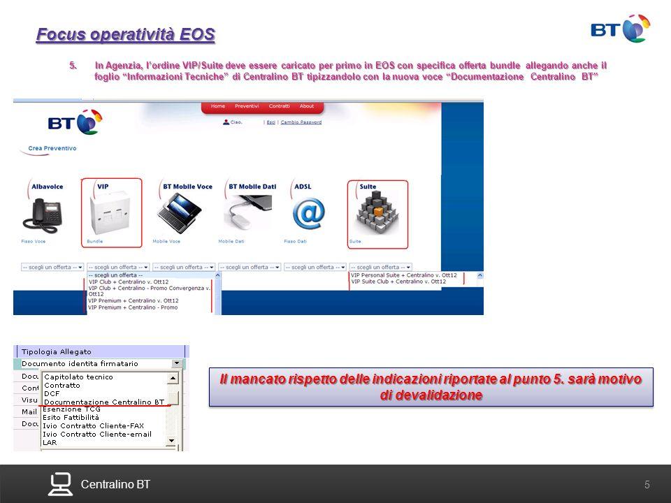 Focus operatività EOS