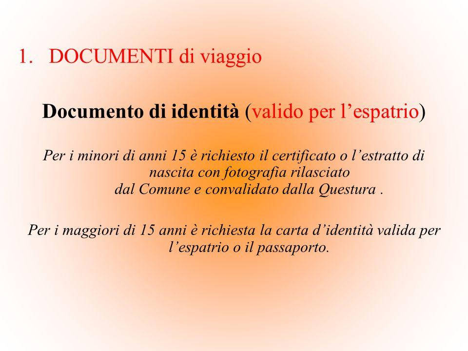 Documento di identità (valido per l'espatrio)