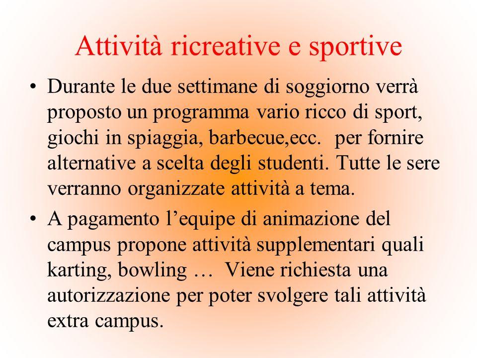 Attività ricreative e sportive