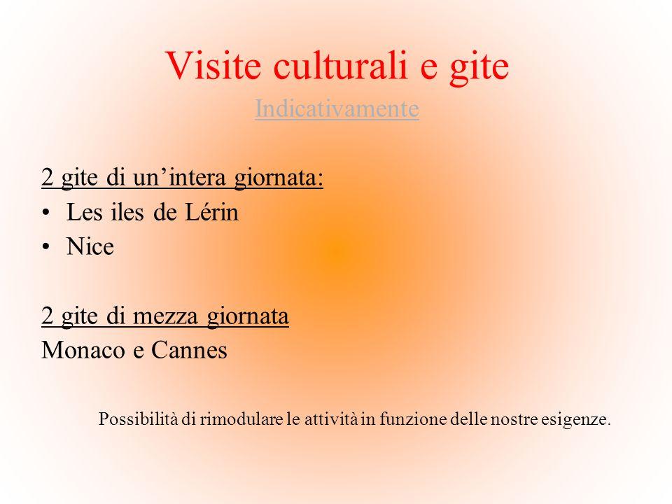 Visite culturali e gite