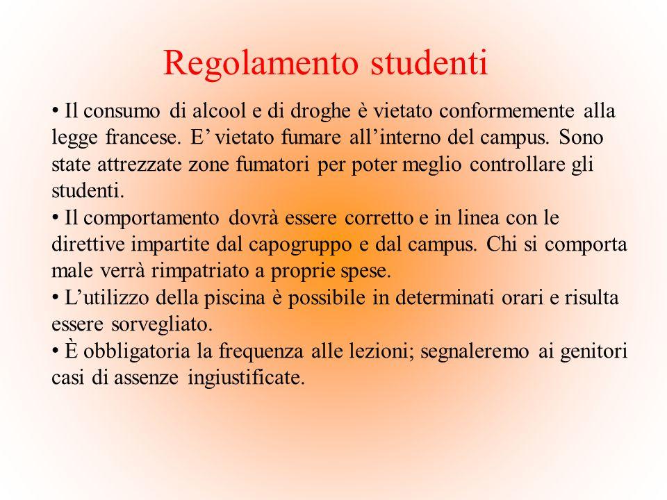 Regolamento studenti