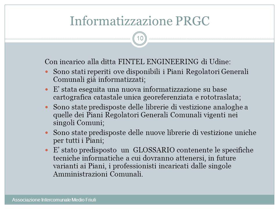 Informatizzazione PRGC