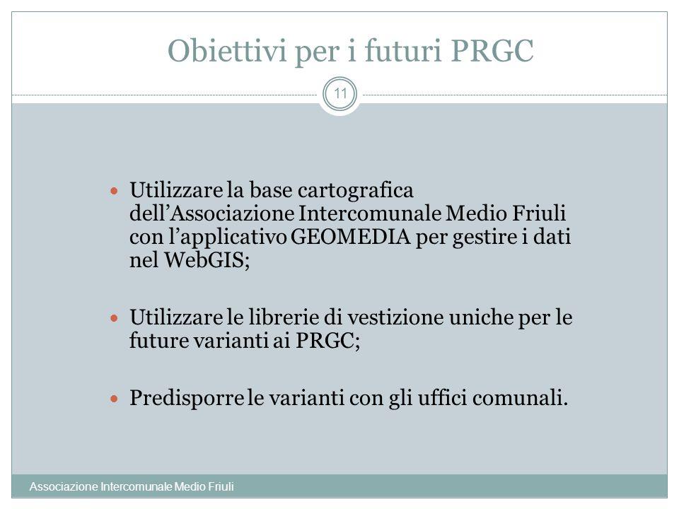 Obiettivi per i futuri PRGC