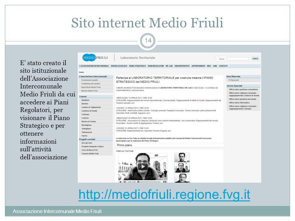 Sito internet Medio Friuli