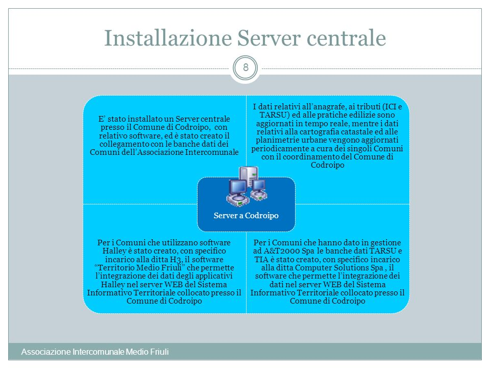 Installazione Server centrale
