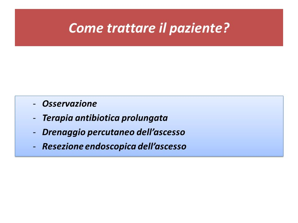 Come trattare il paziente