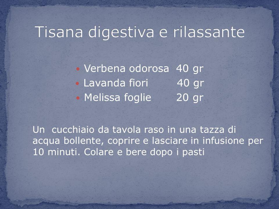 Tisana digestiva e rilassante