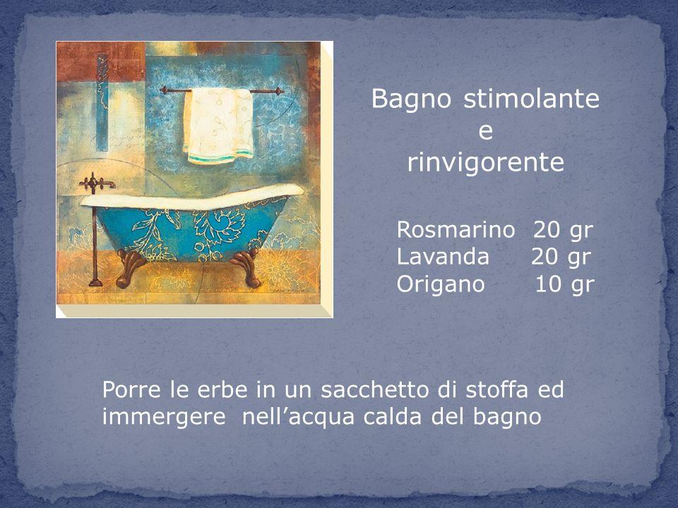 Bagno stimolante e rinvigorente Rosmarino 20 gr Lavanda 20 gr
