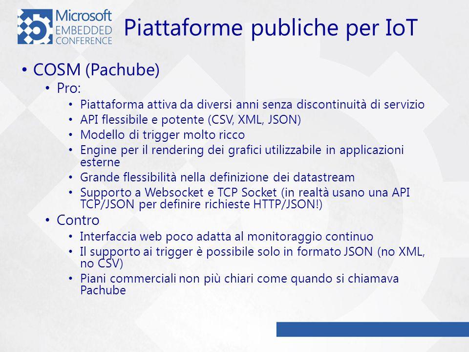 Piattaforme publiche per IoT