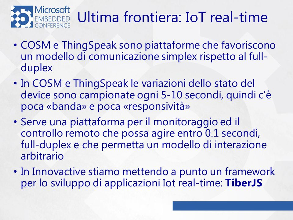 Ultima frontiera: IoT real-time