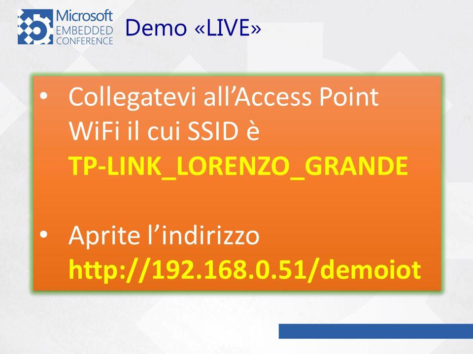 Collegatevi all'Access Point WiFi il cui SSID è TP-LINK_LORENZO_GRANDE