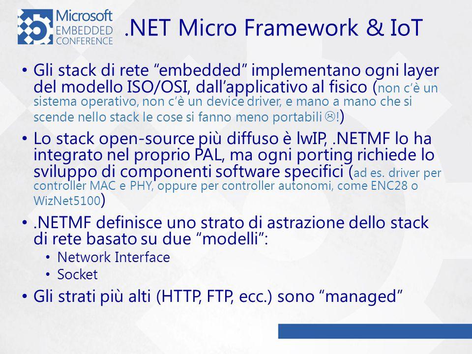 .NET Micro Framework & IoT