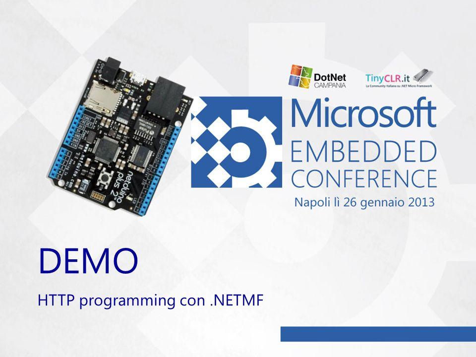 DEMO HTTP programming con .NETMF