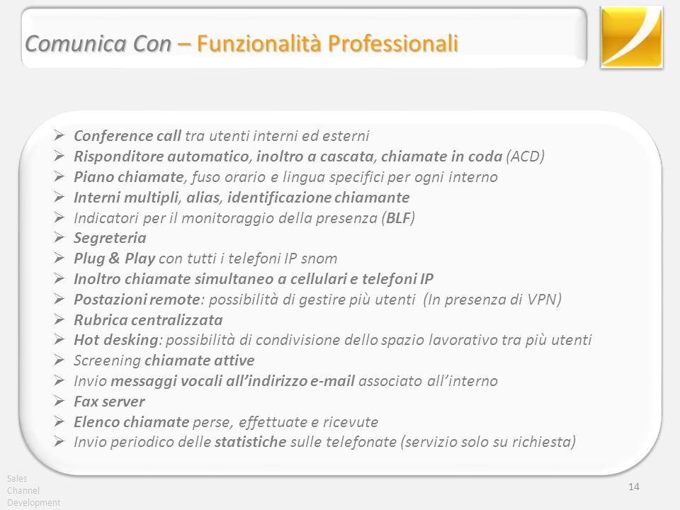 Comunica Con – Funzionalità Professionali