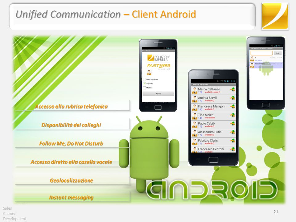 Unified Communication – Client Android