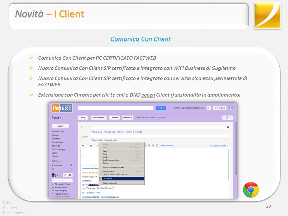 Novità – I Client Comunica Con Client