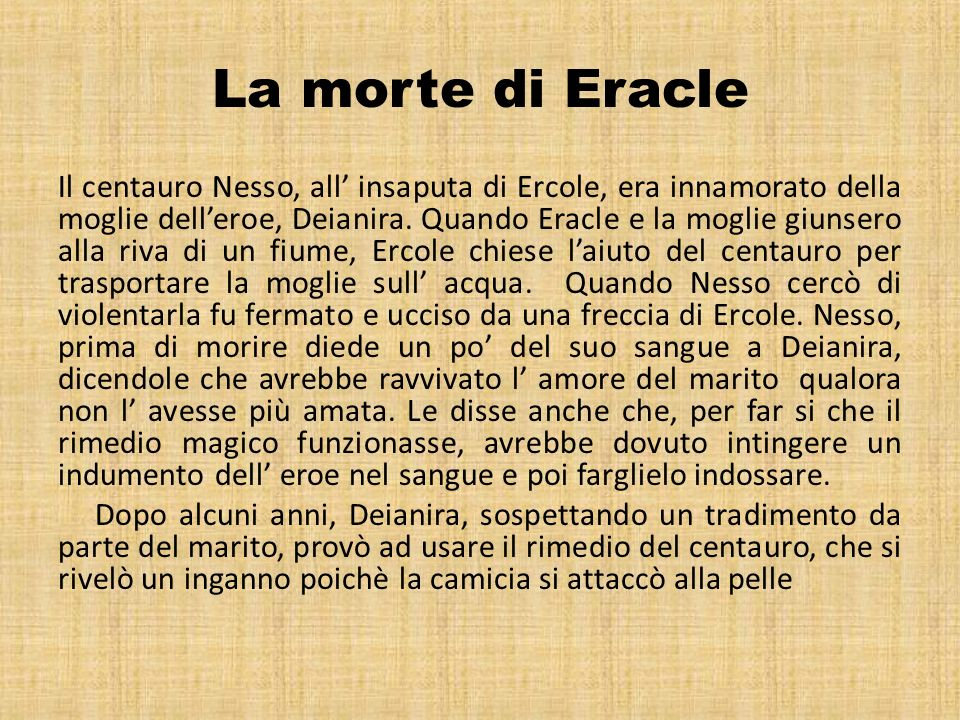 La morte di Eracle
