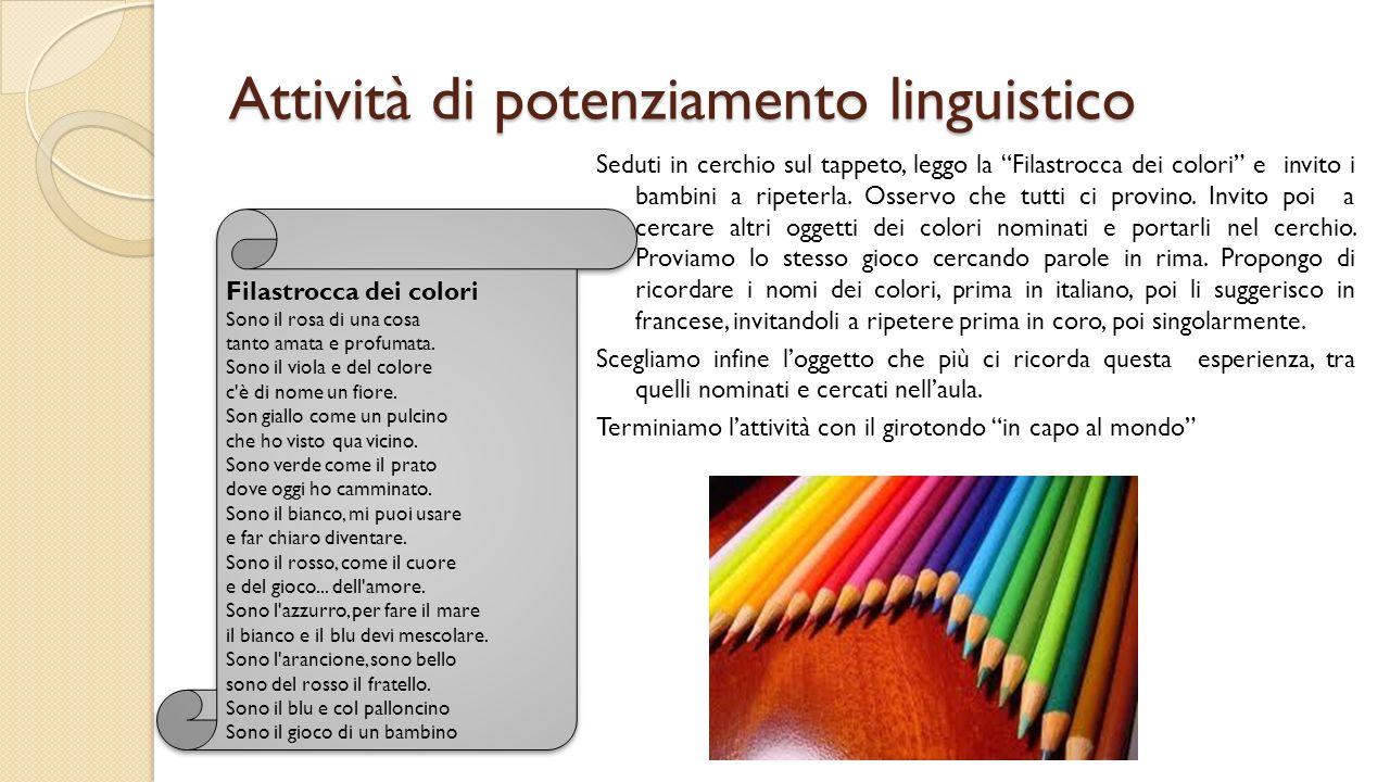 Attività di potenziamento linguistico