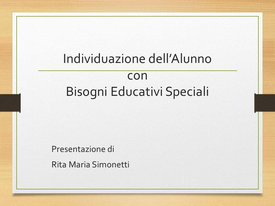 Individuazione dell'Alunno con Bisogni Educativi Speciali
