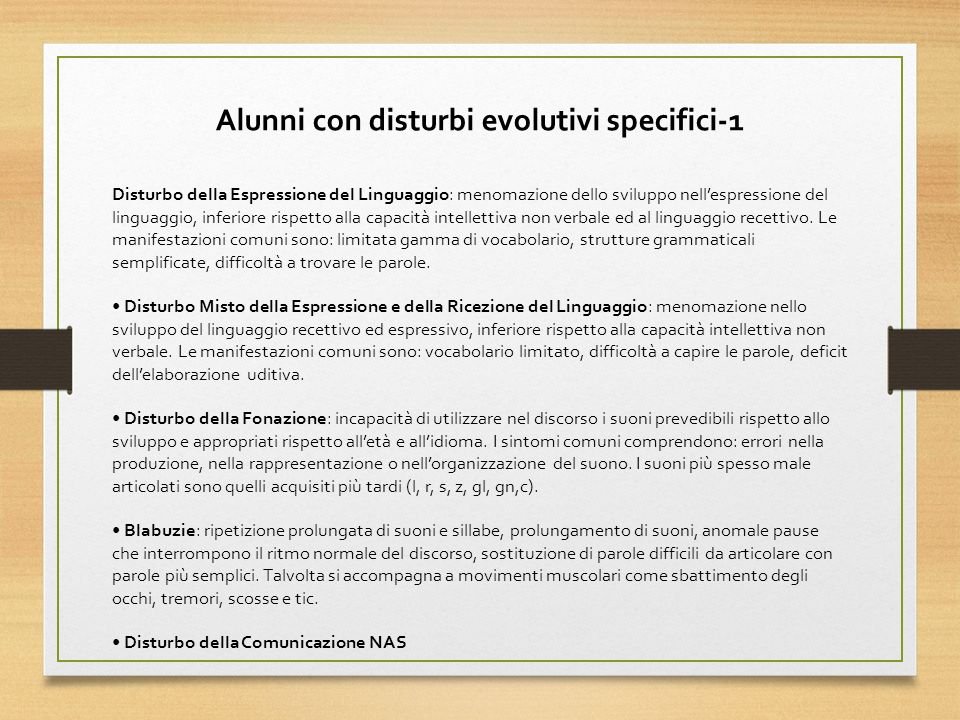 Alunni con disturbi evolutivi specifici-1