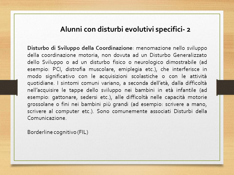 Alunni con disturbi evolutivi specifici- 2