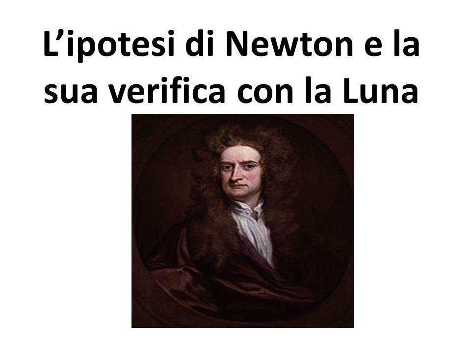 L'ipotesi di Newton e la sua verifica con la Luna