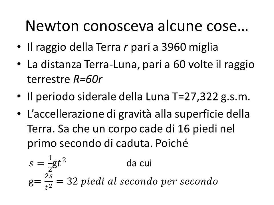 Newton conosceva alcune cose…