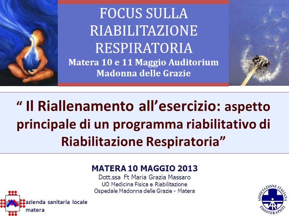 Il Riallenamento all'esercizio: aspetto principale di un programma riabilitativo di Riabilitazione Respiratoria