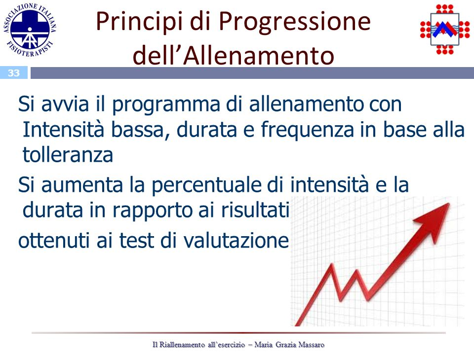 Principi di Progressione dell'Allenamento