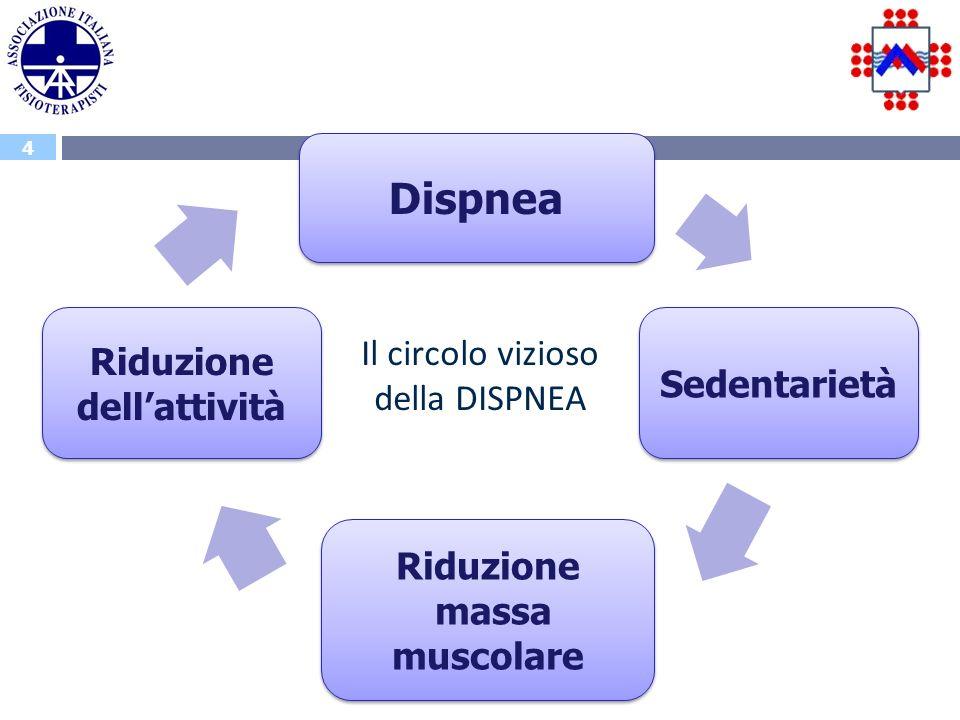 Riduzione dell'attività Riduzione massa muscolare