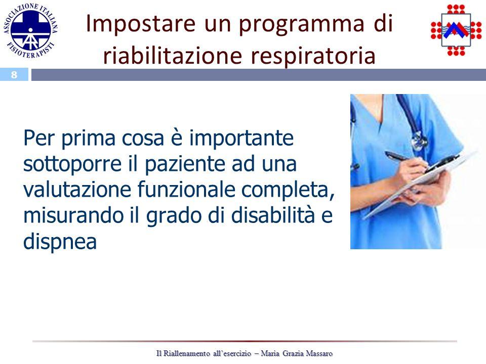 Impostare un programma di riabilitazione respiratoria