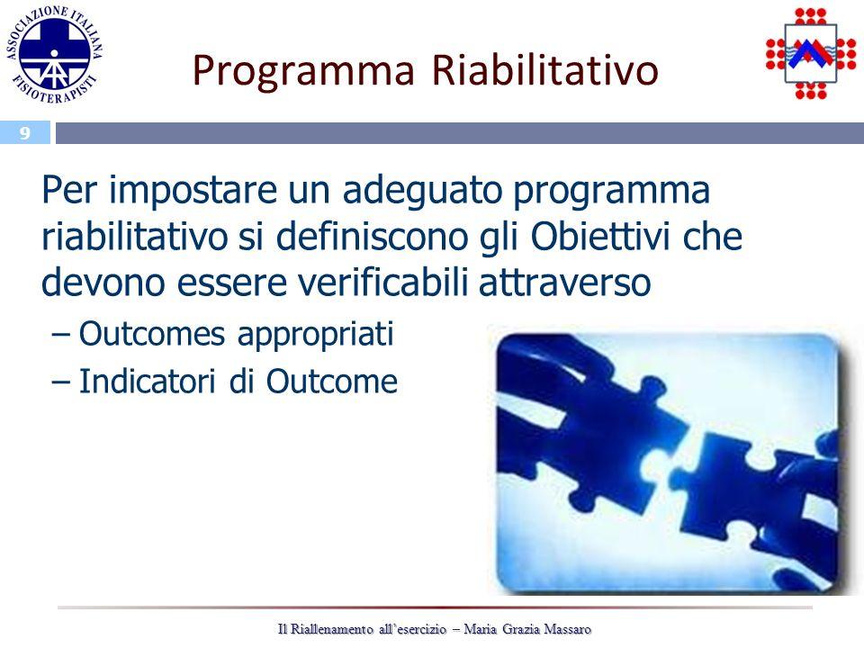 Programma Riabilitativo