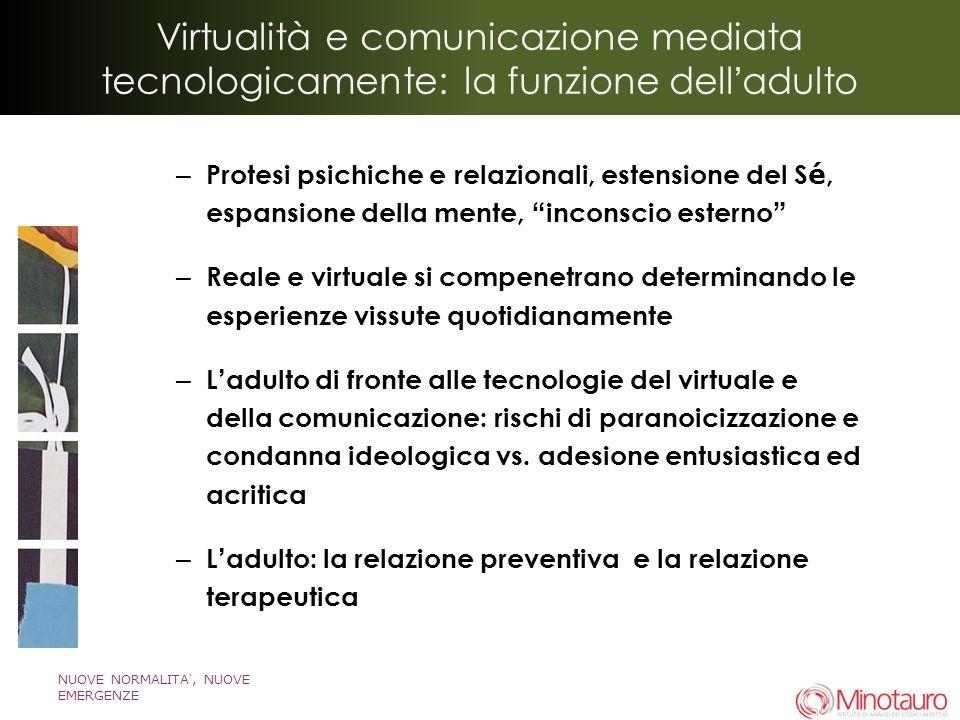 Virtualità e comunicazione mediata tecnologicamente: la funzione dell'adulto
