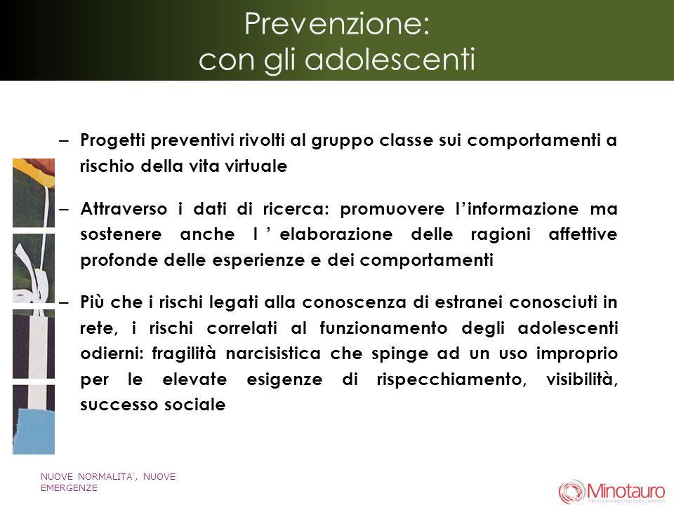 Prevenzione: con gli adolescenti