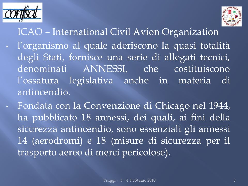 ICAO – International Civil Avion Organization