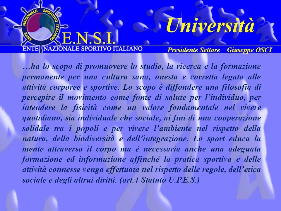 Università Presidente Settore Giuseppe OSCI.