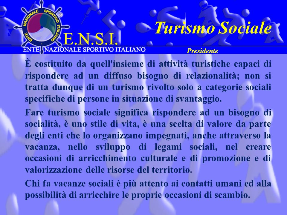 Turismo Sociale Presidente.