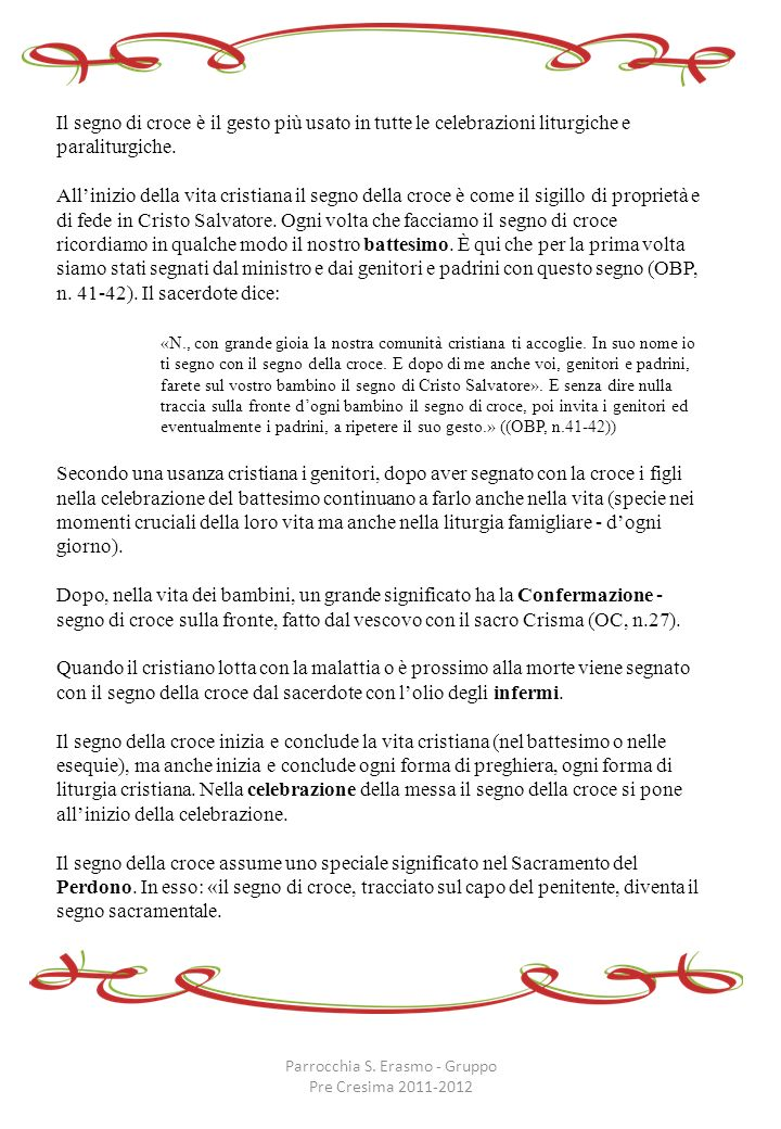 Parrocchia S. Erasmo - Gruppo Pre Cresima 2011-2012