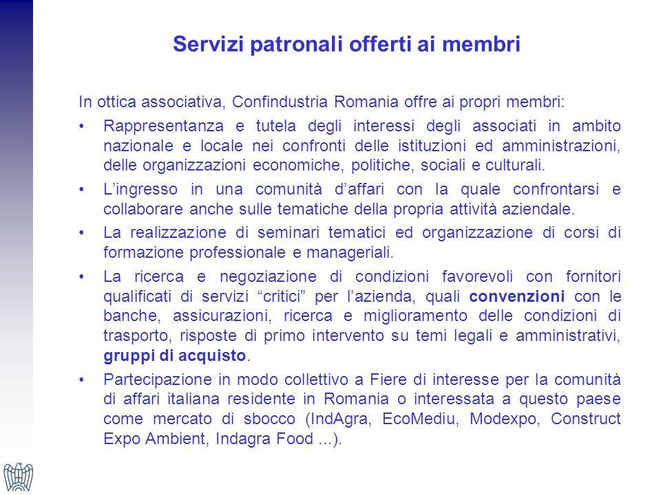 Servizi patronali offerti ai membri