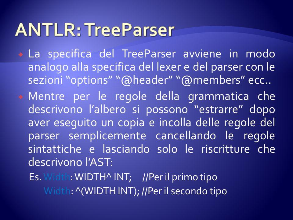 ANTLR: TreeParser