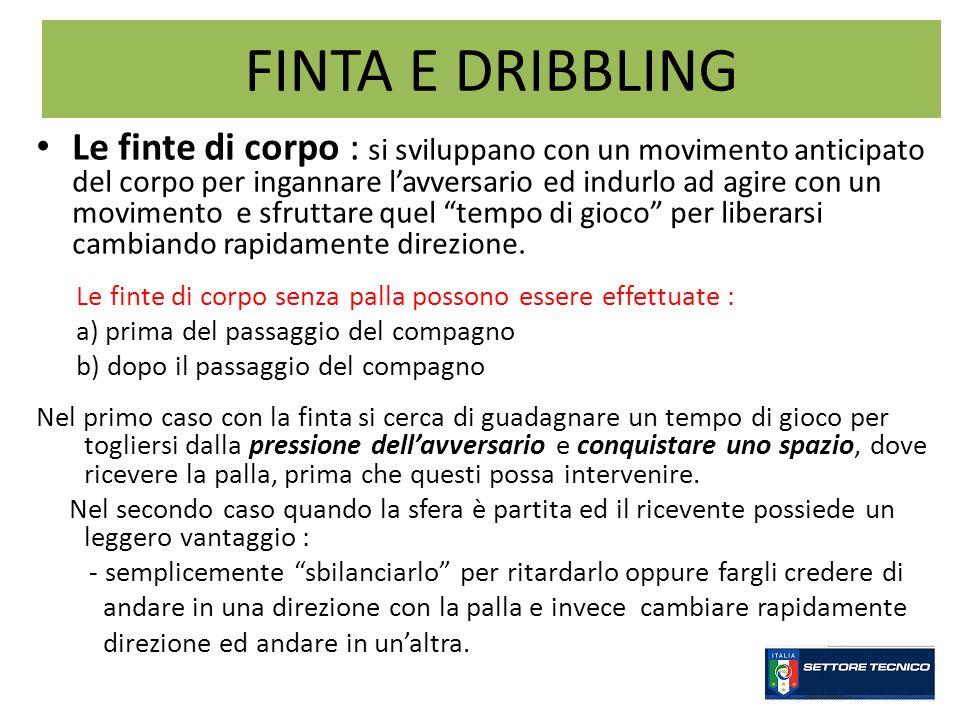 FINTA E DRIBBLING