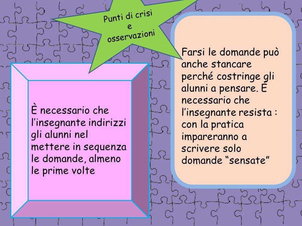 Punti di crisi e osservazioni