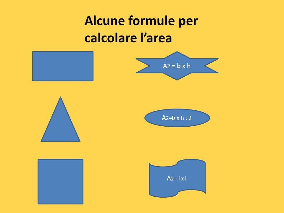 Alcune formule per calcolare l'area
