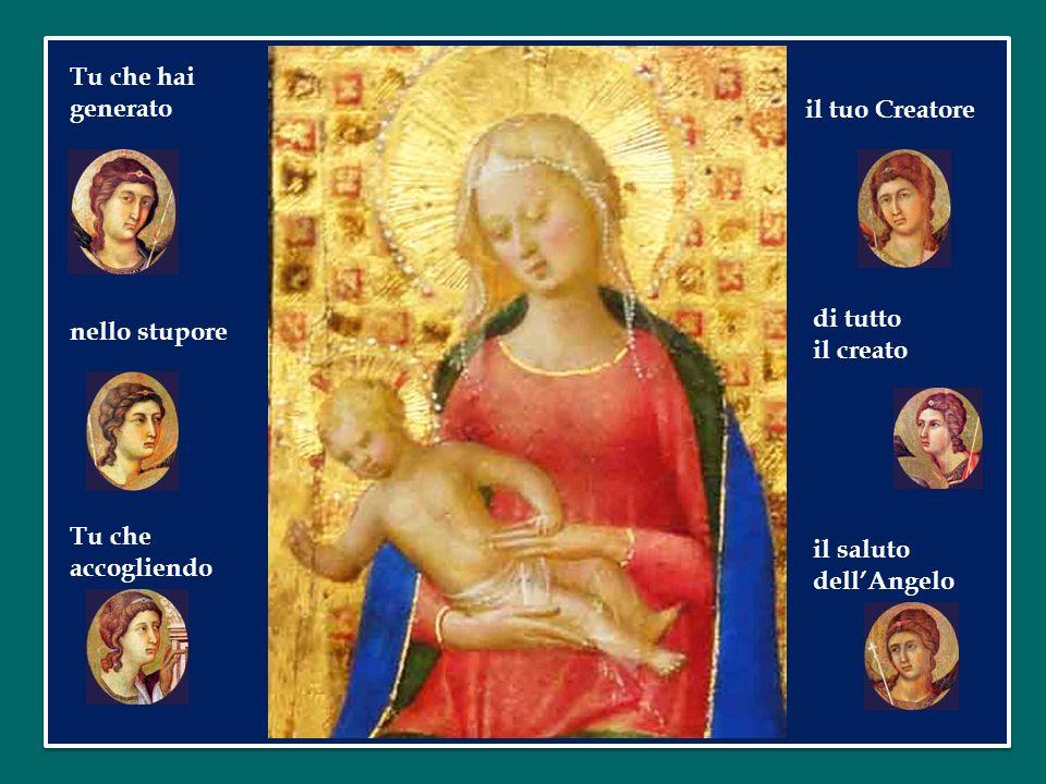 Tu che hai generato il tuo Creatore. di tutto. il creato.
